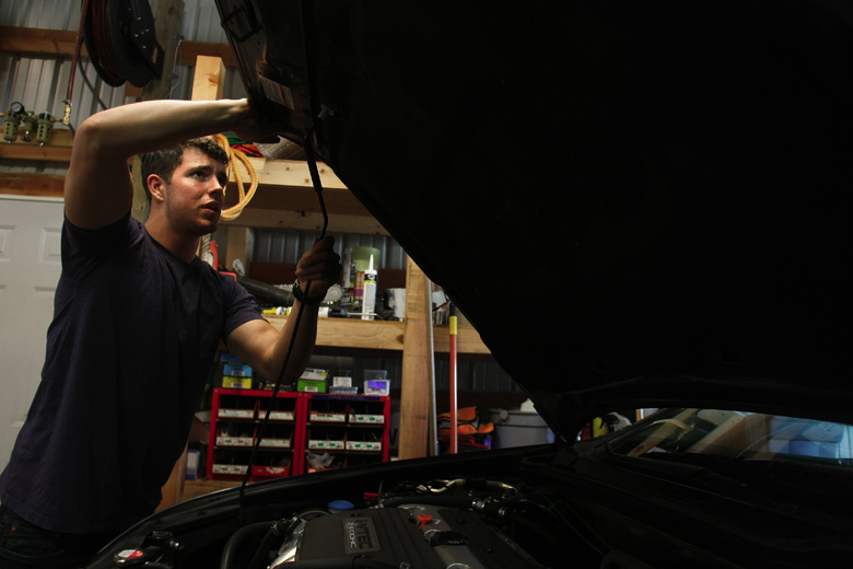 Jordan likes the focus he gets from working on his family's cars, and doing repair projects around the house. It relaxes him, he said. His relationships with Whitney and his family have grown stronger since his return.