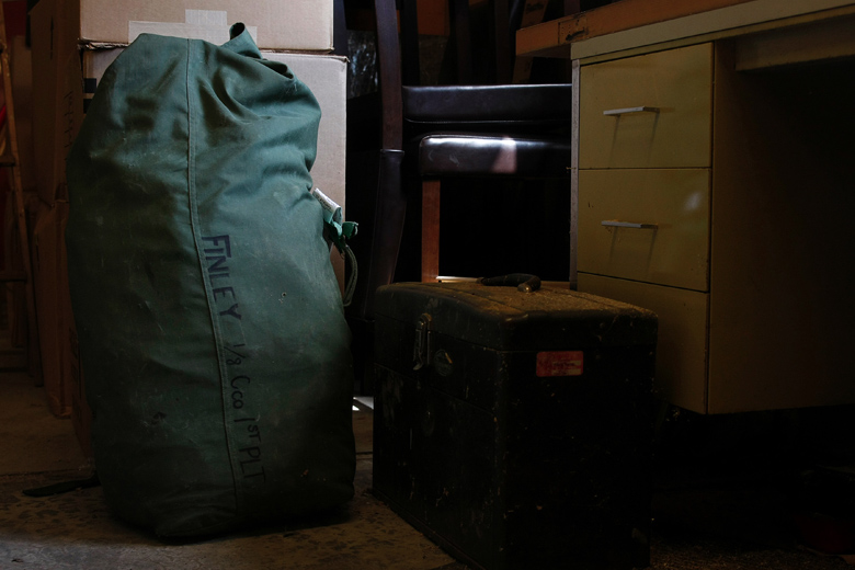Since returning home, Jordan has not unpacked his Seabag, the canvas bag that holds all of his belongings from combat. It continues to sit untouched in the corner of his garage.